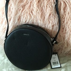 100% Authentic DKNY Circle Leather Crossbody
